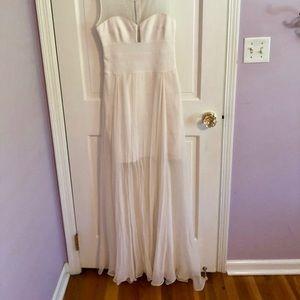 White bcbgmaxazria gown